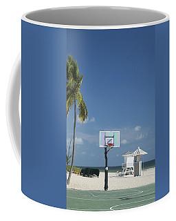 Basketball Goal On The Beach Coffee Mug