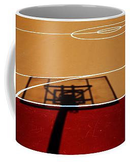 Basketball Shadows Coffee Mug by Karol Livote