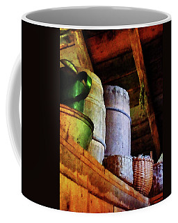 Coffee Mug featuring the photograph Baskets And Barrels In Attic by Susan Savad