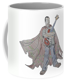 Bass Guitarist Cartoon Coffee Mug