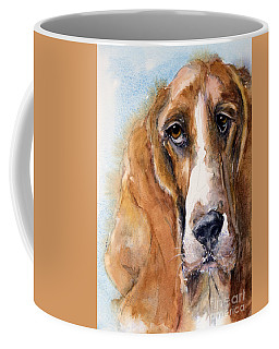 Basset Hound Coffee Mug by Judith Levins