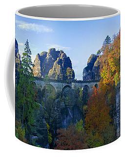 Bastei Bridge In The Elbe Sandstone Mountains Coffee Mug