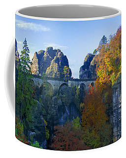 Bastei Bridge In The Elbe Sandstone Mountains Coffee Mug