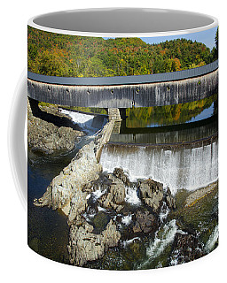 Bath Haverhill Covered Bridge In Autumn Coffee Mug