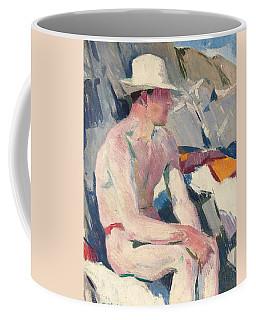 Bather In A White Hat Coffee Mug