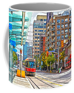 Bathurst Street Car Coming North To Queen Street Coffee Mug by Nina Silver