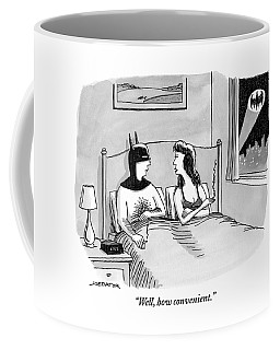Batman In Bed With Woman After Having Sex Coffee Mug
