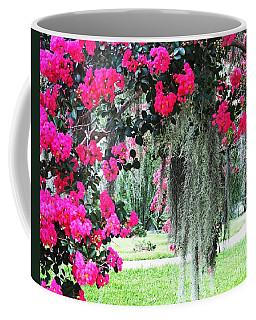 Baton Rouge Louisiana Crepe Myrtle And Moss At Capitol Park Coffee Mug