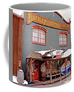 Coffee Mug featuring the photograph Battle Mountain Trading Post by Fiona Kennard