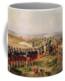 Battle Of Fontenoy, 11 May 1745 The French And Allies Confronting Each Other Coffee Mug