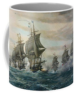 Battle Of Virginia Capes Coffee Mug by Celestial Images