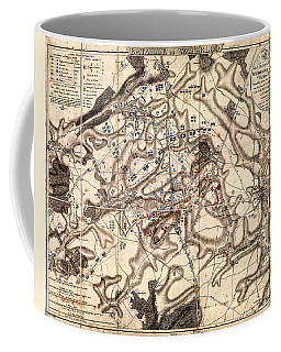 Battle Of Waterloo Old Map Coffee Mug