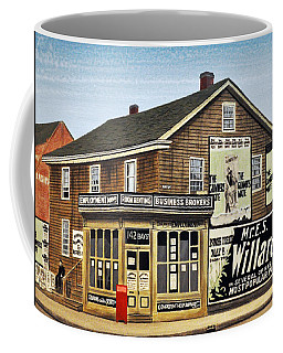 Coffee Mug featuring the painting Bay And Adelaide Streets 1910 by Kenneth M  Kirsch
