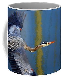 Bay Blue Heron Flight Coffee Mug
