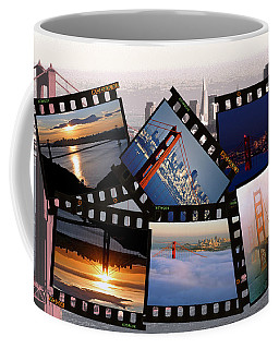 Coffee Mug featuring the photograph Golden Gate Collage by Christopher McKenzie
