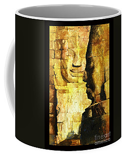 Bayon Khmer Temple At Angkor Wat Cambodia Coffee Mug