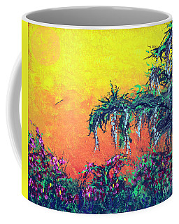 Coffee Mug featuring the painting Bayou Honeymoon by Alys Caviness-Gober