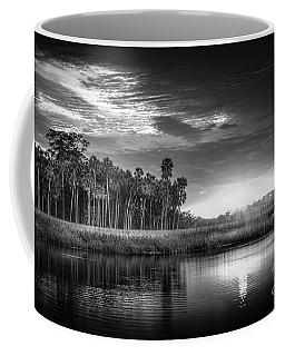 Bayou Sunset-b/w Coffee Mug