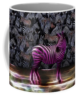 Coffee Mug featuring the photograph Be Courageous - Be Different - Zebra by Ericamaxine Price