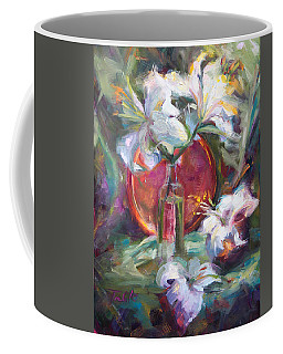 Be Still - Casablanca Lilies With Copper Coffee Mug
