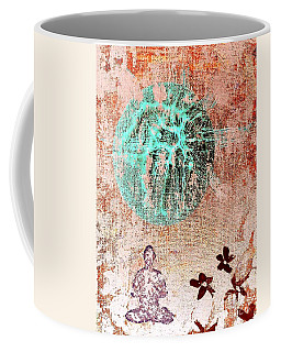 Coffee Mug featuring the painting Be The Buddha by Jacqueline McReynolds