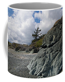 Beach At Fort Rodd Hill Coffee Mug