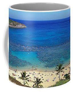 Beach At Hanauma Bay Oahu Hawaii Usa Coffee Mug