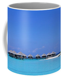Beach Cabanas, Baros, Maldives Coffee Mug