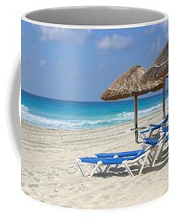 Beach Chairs In Cancun Coffee Mug