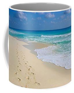 Beach Footprints Coffee Mug