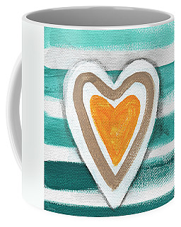 Beach Glass Hearts Coffee Mug