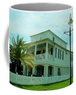 Beach House - Bay Saint Louis Mississippi Coffee Mug by Deborah Lacoste