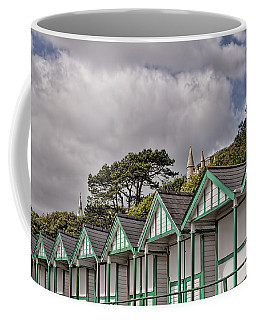 Beach Huts Langland Bay Swansea 3 Coffee Mug