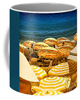Beach In Cannes  Coffee Mug