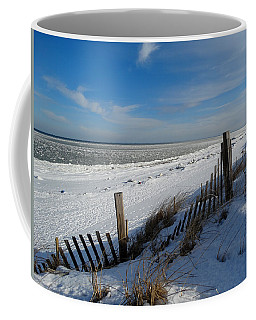 Beach On A Winter Morning Coffee Mug