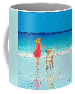 Beach Painting 'sunkissed Hair'  Coffee Mug by Jan Matson
