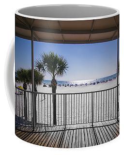 Coffee Mug featuring the photograph Beach Patio by Carolyn Marshall