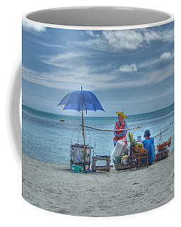 Beach Sellers Coffee Mug by Michelle Meenawong