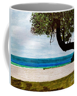 Coffee Mug featuring the drawing Beach Side by D Hackett