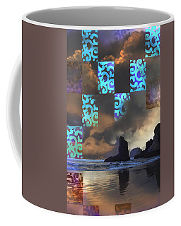 Coffee Mug featuring the photograph Beach Stamped by Adria Trail