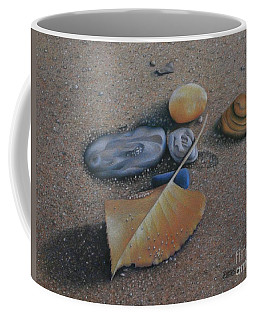 Coffee Mug featuring the painting Beach Still Life IIi by Pamela Clements