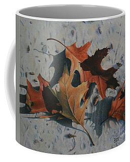 Coffee Mug featuring the painting Beach Still Life by Pamela Clements