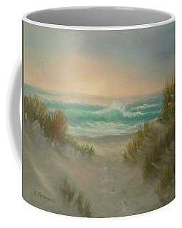 Cape Cod Beach Sunset Dunes Print  Coffee Mug
