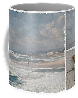 Beach Triptych 1 Coffee Mug by Linda Lees