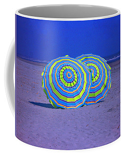 Beach Umbrellas By Jan Marvin Studios Coffee Mug