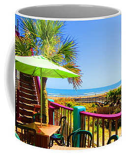 Beach View Of The Ocean By Jan Marvin Studios Coffee Mug