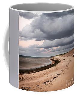 Beach View With Storm Clouds Coffee Mug