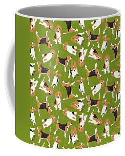 Beagle Scatter Green Coffee Mug