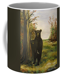 Coffee Mug featuring the painting Bear Necessity by Laurie Lundquist
