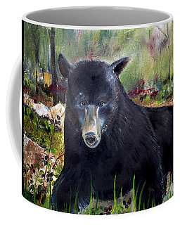 Bear Painting - Blackberry Patch - Wildlife Coffee Mug by Jan Dappen